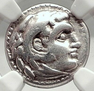 ALEXANDER III the GREAT Authentic Ancient 323BC Silver Greek Coin NGC i73039