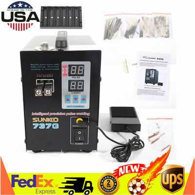 Hand Held SUNKKO 737G Battery Spot Welder Pulse&Current Display Welding Machine