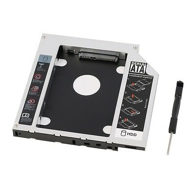AU Universal 12.7mm SATA 2nd SSD HDD Hard Drive Caddy for DVD-ROM CD Optical MN