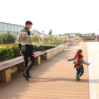 2.5M Safety Walking Harness Anti-lost Kids Strap Wrist Leash Hand Belt/--WML/z