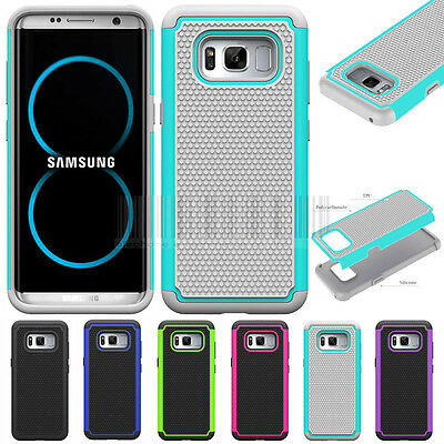 For Samsung Galaxy S8 Plus Hybrid Hard Armor Case Rugged Shockproof Phone Cover