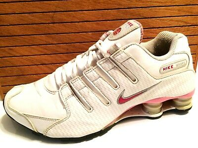 NIKE Shox NZ Women s Running Shoes Size 9.5 White Pink Grey Red 314561-102 92970f050