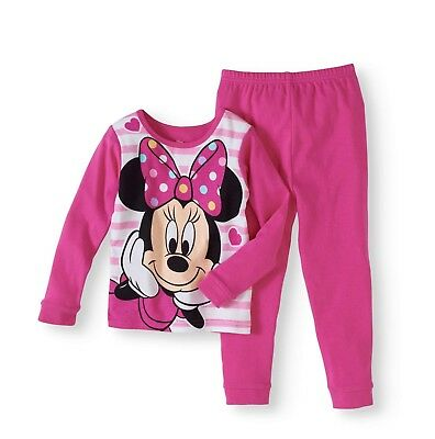 Minnie Mouse Baby Toddler Girl Cotton Pajama 2pc Set 18M 2T 3T 4T 5T