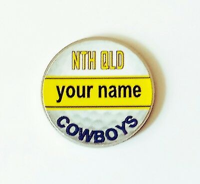anneys - your OWN PERSONALISED  ** Cowboys** golf ball marker!!