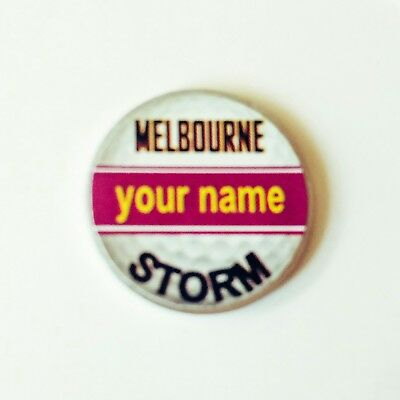 anneys - your OWN PERSONALISED  ** Storm ** golf ball marker!!