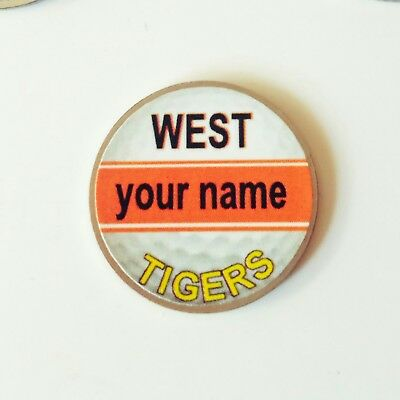 anneys - your OWN PERSONALISED  ** West Tigers ** golf ball marker!!