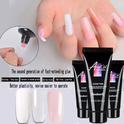 Poly Gel Finger Nail Extension UV LED Jelly Hard Gel Acrylic Builder Fast Dry