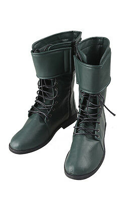 HOT COS Green Arrow Season 4 Oliver Queen Cosplay BOOTS Shoes Customize Unisex