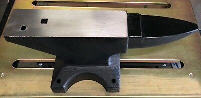 New KNIFE Making Blacksmith Step Horn 20# Pound Solid FORGED STEEL ANVIL w/holes