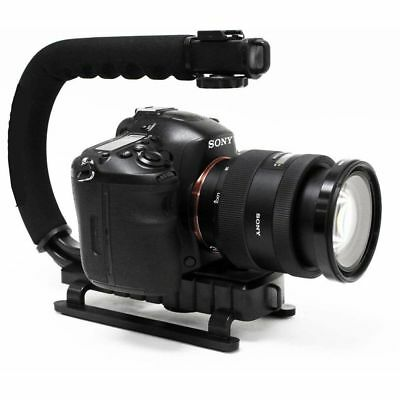 C/U Shape Bracket Handheld Grip Stabilizer Holder f.DSLR Camera Camcorder Video.