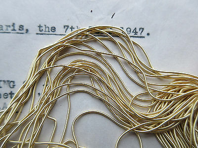 AUTHENTIC FRENCH Vintage Gold Metal Thread Rough Purl Bullion Embroidery