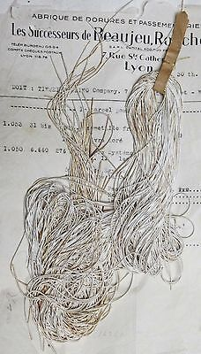 AUTHENTIC FRENCH Vintage Silver Metal Thread Rough Purl Bullion Embroidery