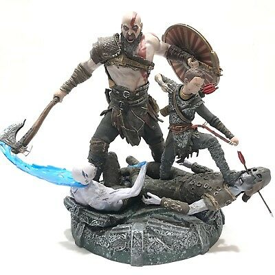 "NEW God of War PS4 Stone Mason Edition 9"" Kratos & Atreus Statue Collectors"