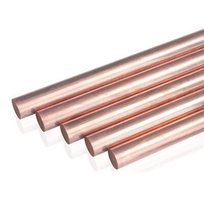 T2 Red Copper Round Rod Bar Solid Lathe Bar Cutting Tool Metal Dia 3-14MM CA