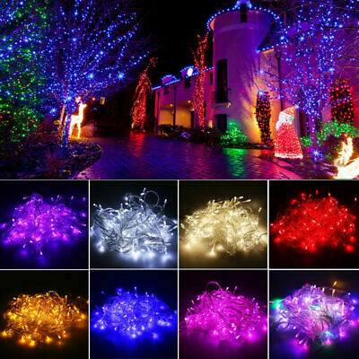 10M/20M/50M Christmas Tree Fairy String Lights Xmas Party Lamps Decor Waterproof