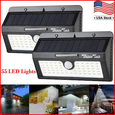 Solar Lights Outdoor Motion Sensor Security 55 Led Super Bright Yard Deck Patio