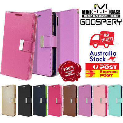 For iPhone X Xs XS Max XR GOOSPERY Rich Diary Flip Leather Magnetic Wallet Case