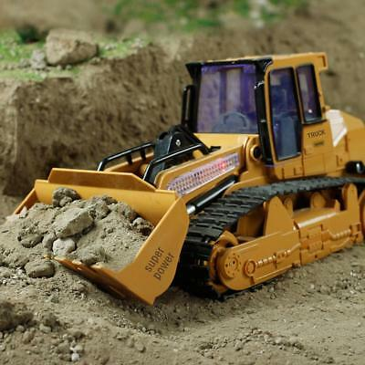 XM-6822L Large Simulated Remote Control Bulldozer  with Light Sound Car Toy