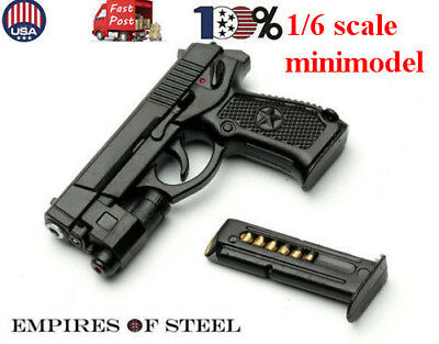 US 1/6 scale QSZ92 Semi-automatic Pistol Black Model Plastic Gun For Figure Body