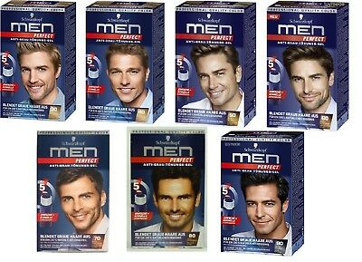 Schwarzkopf MEN PERFECT Anti-Gray Hair Color Gel - 7 Choices:30 to 90 *GERMANY*