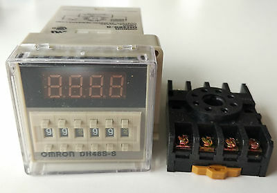 New 24V DC Programmable Double Time Delay Relay DH48S-S & Free Socket Base UL