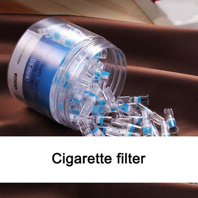 BlUE 100pcs Super Cleaning Disposable Reduce Tar Smoke Tobacco Filter Cigarette