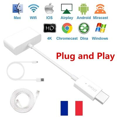 4K 1080P WiFi HDMI HD DLNA Airplay TV Video Streamer Dongle Miracast Receveur FR