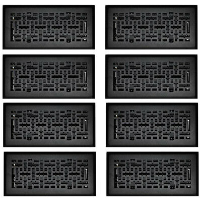 8 Pack Steel Air Diffuser Floor Air Vent Covers Grille Register Grate 4 X 10 in.