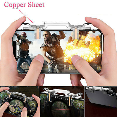ROCK PUBG Mobile Phone Game Controller Fire Button Key Gamepad Shooter Trigger