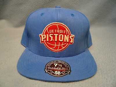 new styles 2b476 a28ba Mitchell   Ness Detroit Pistons Sandy Off White NEW cap hat Hi Crown Fitted