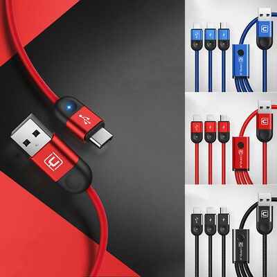 Cafele 3/2/1 in1 TypeC Micro Light Charging&Data Sync USB Cable For IOS&Android