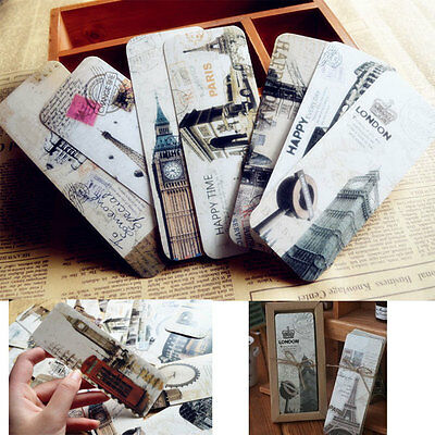 30pcs Word Famous Vintage Retro Chic Paper Book Mark Bookmark Book Label Gift