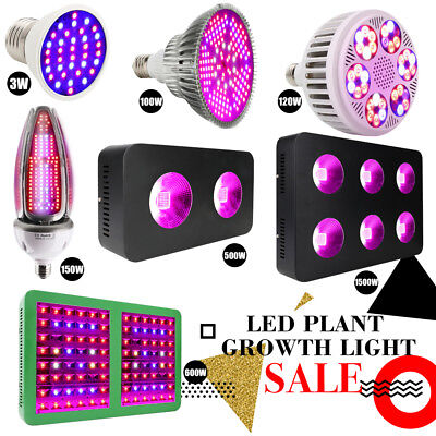 E27 LED Grow Light 120/150/1500W Full Spectrum Wachsen Licht Pflanzenlampe Birne