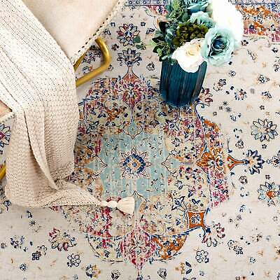 Floor Rug Rust Red Blue Distressed Traditional Persian Vintage Carpet 160x230cm