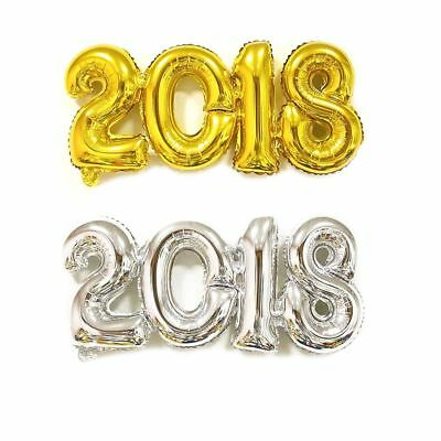 Supplies Gold/Silver/Rose Aluminum Foil Inflatable 2018 Number Helium Balloon