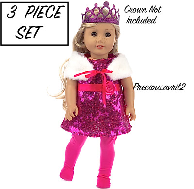 Baby born clothes fits 43 cm american girl doll outfit clothing 3 piece set