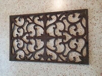 Large Vintage Cast Iron Floor Wall Return Register Grate Vent Architectural