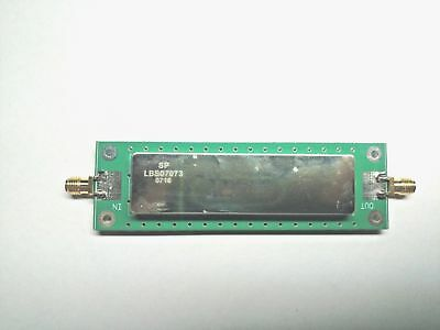 SAW-Filter 69,99 Mhz (Bandpass 1,2 Mhz) montiert am Evaluation Board
