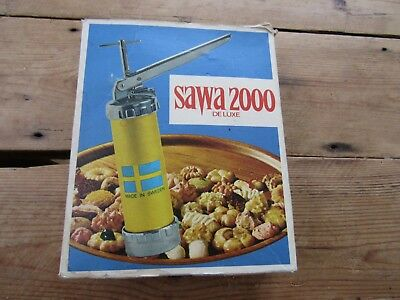Vintage Sawa 2000 Deluxe Cookie Press Made In Sweden Complete In Box