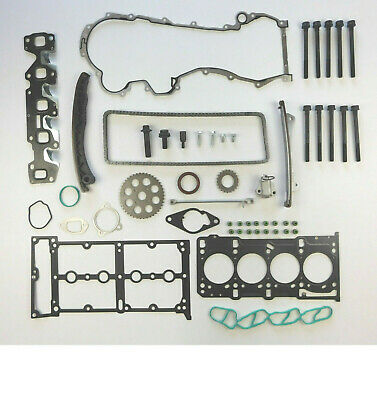 FOR VAUXHALL ASTRA J CORSA D 1.3 CDTi TIMING CHAIN KIT HEAD GASKET SET BOLTS