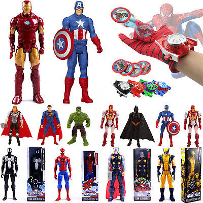 Superheld Spiderman Marvel Action Figuren & Handschuhe Launcher Kinderspielzeug