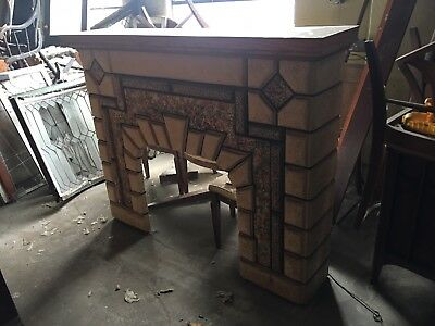 Antique 1940's Fireplace Mantle For Your Home Possible Ship Zip.   Heavy