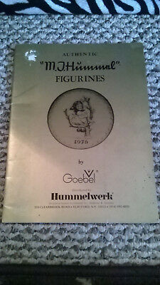 """Authentic """"M. J. Hummel"""" Figurines Book Distributed by HUMMELWERK W GERMANY 1976"""