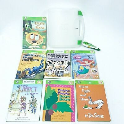 Leap Frog Tag 32MB Reader Pen Carry Case 7 Pre-Loaded Girl Book Lot