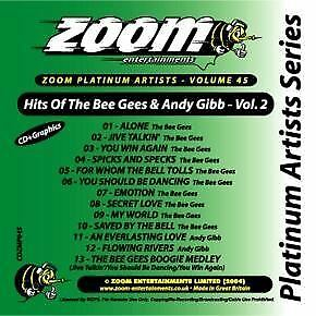 Zoom Karaoke CD+G Platinum Artists 45 Bee Gees & Andy Gibb Volume 2 Neu Sealed