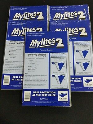 "250 E. Gerber Mylites 2 Mil Mylar Current Comic Book Sleeves 700M2  7"" X 10 1/2"""