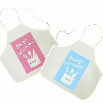 Toddler's Personalised Apron Granny's Little Helper Baking Cooking Pinny Child