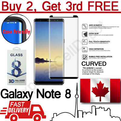 Case Friendly Curved Tempered Glass Screen Protector for Samsung Galaxy Note 8