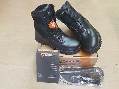 New British Army Issue Goliath YDS Black Steel Toe Cap Tactical Boots Size 9 UK