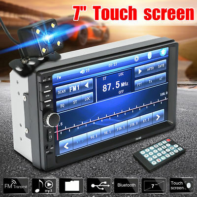 6.2'' Car Radio Mirror Link 2 Din Stereo MP5 Touch Screen W/ Bluetooth&Camera